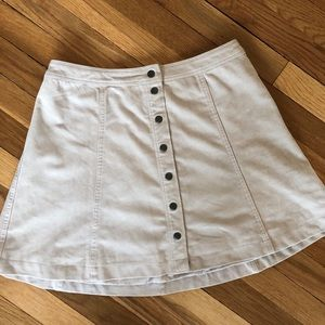 Size 8 Fax-Suede Mini Skirt